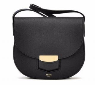 Celine Trotteur Leather Shoulder Bag