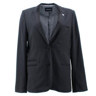 Zadig & Voltaire Black Blazer with Buttoned Cuffs