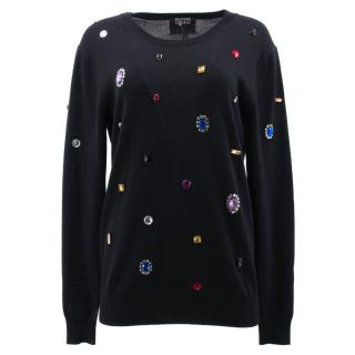 Markus Lupfer Black Jumper with Diamantes