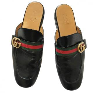 Gucci Princeton Leather Slipper with GG Logo