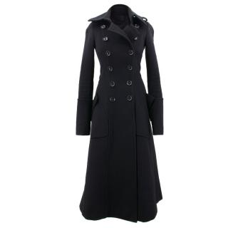 Burberry Black Double Brested Coat