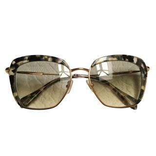Miu Miu Brown Leopard Sunglasses