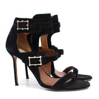 Valentino Black Straps Sandals