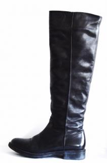 Santoni winter black  knee leather boots