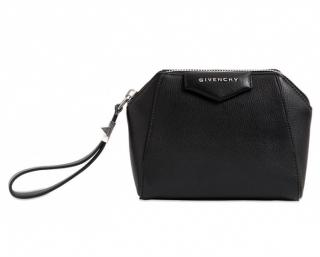 GIVENCHY Black Antigona Grained Leather Pouch