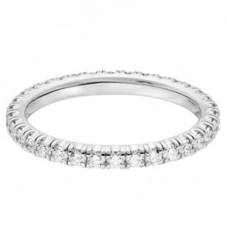 Cartier White gold  diamond eternity ring with receipt