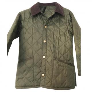 Barbour Olive Green Quilted Jacket Age 4/5