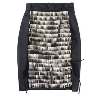 Magda Butrym Black leather Chain Skirt