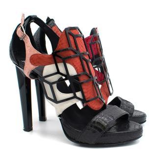 Pierre Hardy Snake Skin Multicoloured Heels