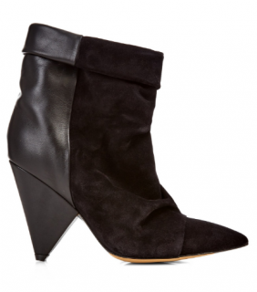 Isabel Marant Women's Black Andrew Leather And Suede Ankle Boots