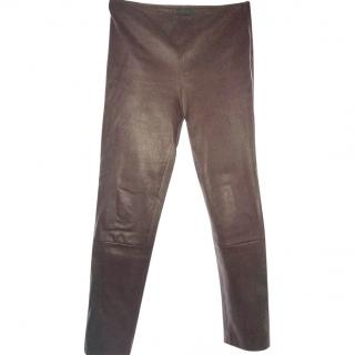 The Row Leather Leggings