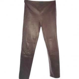 The Row Leather Leggings