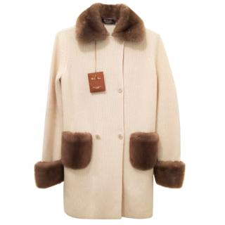 Loro piana baby Cashmere mink fur coat/Jacket
