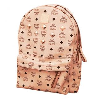 MCM beige leather backpack