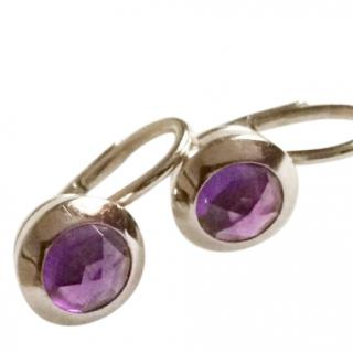 Tiffany & Co 18k White Gold and Amethyst Earrings