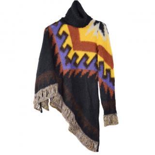 LIUJO Knitted Poncho Jumper