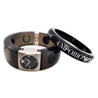 Emporio Armani Bracelet & Bangle Watch Set