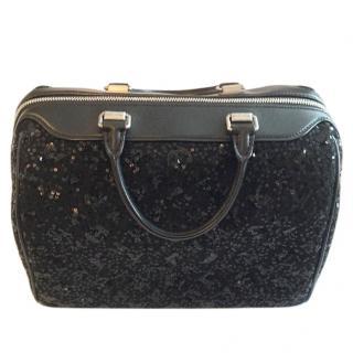 Louis Vuitton black sequinned bag