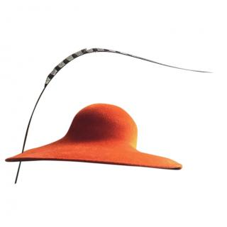 Philip Treacy Bespoke Burnt Orange Hat
