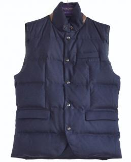 Ralph Lauren Purple Label Lloyd navy down vest jacket