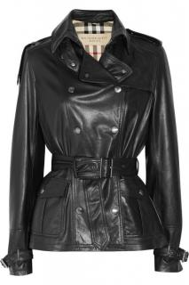 Burberry black leather jacket
