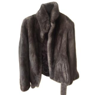 Scandinavia mink hip length jacket
