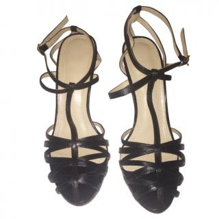 Raoul Black Strappy Cage Sandals