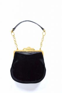 Ralph Lauren Collection black velvet evening mini bag