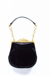 Ralph Lauren Collection black velvet evening mini bag
