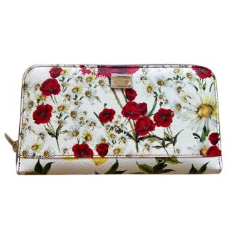 Dolce & gabbana Sicily Poppies print wallet