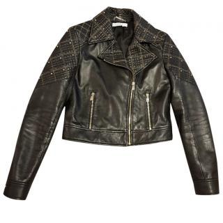 Versace Collection Black leather jacket
