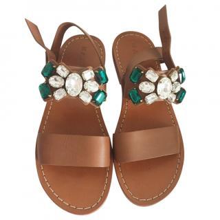 Marni embellished tan sandals