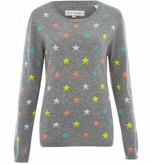 Chinti and Parker 100% Cashmere Star Jumper