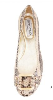 Jimmy Choo snakeskin flats size UK 5.5