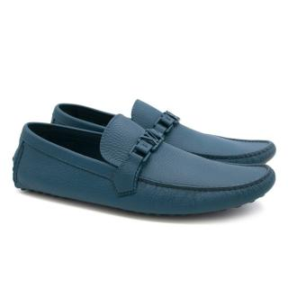 Louis Vuitton Blue Classic Loafers