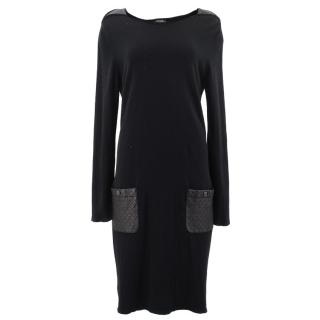 Chanel Black Long Knit Dress
