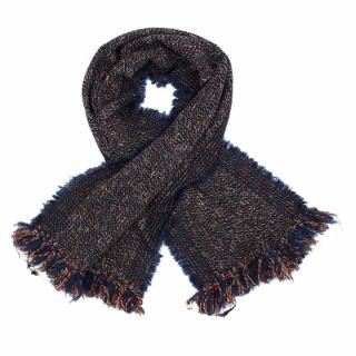 Chanel Wool Fringe Scarf