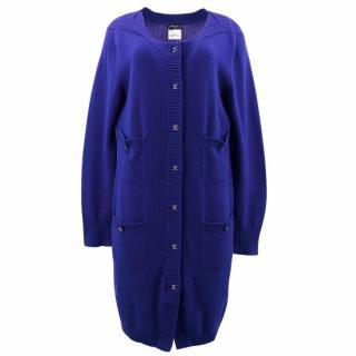 Chanel Blue Cashmere Cardigan