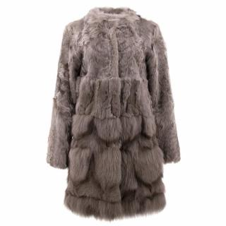 Meteo Yves Salomon Lamb and Fox Fur Coat