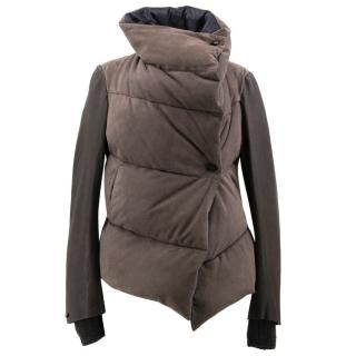 Isaac Sellam Brown Leather Puffer Jacket