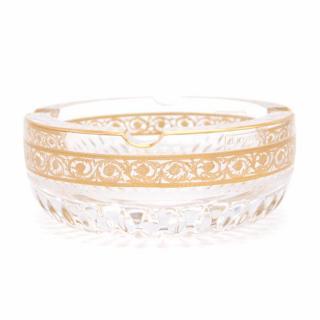 Hermes Saint Louis Large Gold Crystal Thistle Ashtray