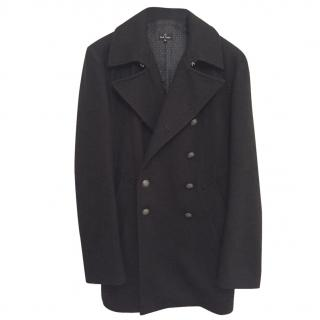 Paul Smith Wool Peacoat - Black