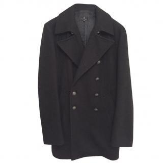 Paul Smith Wool Peacoat - Black