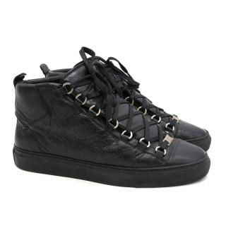 Balenciaga Black High Top Trainers