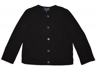 Armani women's black button jacket