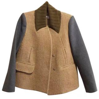 Carven fuzzy alpaca wool coat