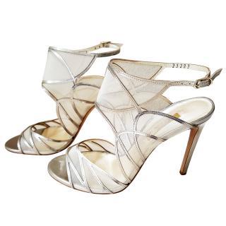 Casadei strappy mesh detailed sandals