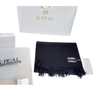 N.Peal black cashmere scarf