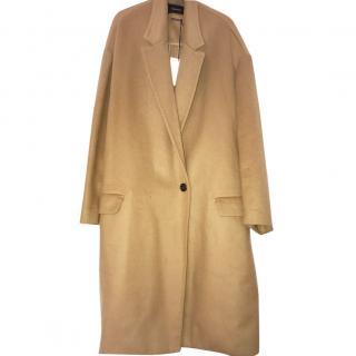 Isabel Marant Corey Camel Cashmere Oversized Coat 40/14