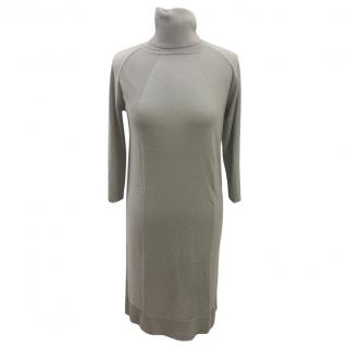 NEW MaxMara silk and cashmere roll neck dress - Size M